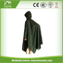 Raincoat Adult Printed Polyester Pvc Rain Poncho