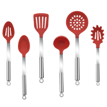Silicone Kitchenware Utensils set Stainless Steel Handle