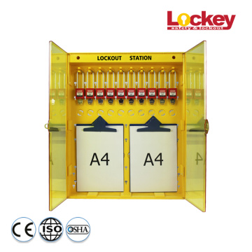 Padlock and Writing Board Combined Lockout Station