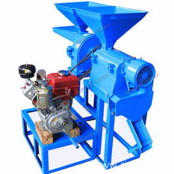 Home Rice Miller Diesel Engine Rice Milling Machine