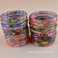 Plastic Bangle With Patterns Printed Resin Bangles For Women