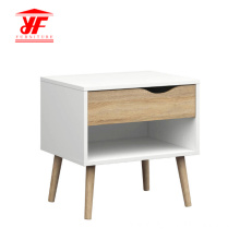 Factory directly sale for White Bedside Cabinets Bedroom Bedside Nightstand Side Table With Solid Legs supply to India Manufacturer