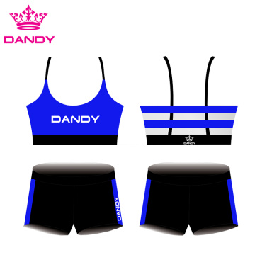 Тасмаҳои customizable Sublimated Cheer Outfits