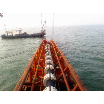 "HDPE dredger pipe with Floater for 18"" Dredger"