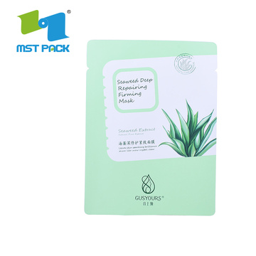 Ziplock Stand Up Pouch Biodegradable Cosmetic Packaging