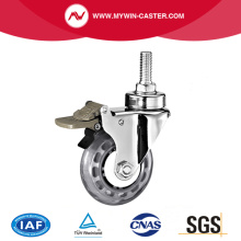 Threaded Stem PU Medical Caster with Brake