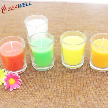 Wholesale in Glass Natural Flavour Solid Wax Candles