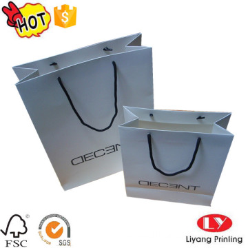 Custom printed paper gift bag with logo
