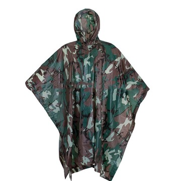 Riding equipment rain poncho