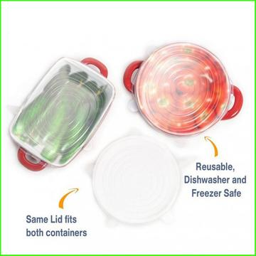 FDA Food Grade Silicone Stretch Lid Set