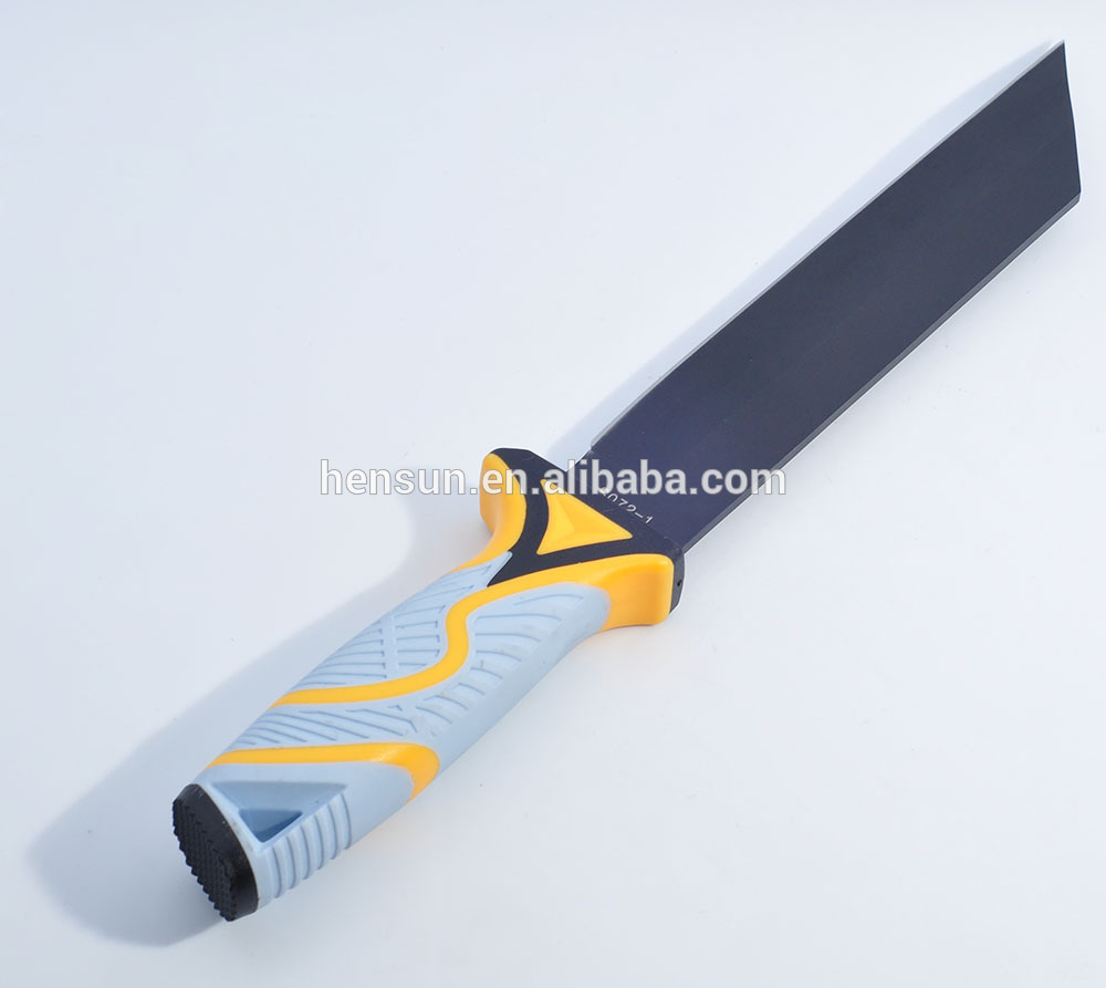Fixed Blade Knife TPR Plastic Handle Custom Knives