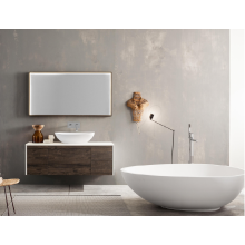 Oval stone resin countertop washbasin for bathroom