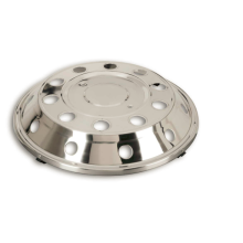 Best Quality for Automotive Car Stainless Steel Accessories Truck Stainless Steel Flat and Dished Hub Cap supply to Turks and Caicos Islands Factory