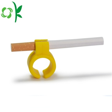 Fashion Convenien Smoking Silicone Rings Cigarettes Holder