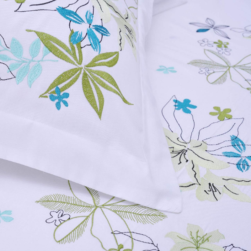 Cotton Sateen Embroidered Duvet Covers