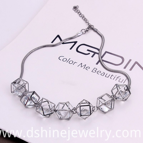 Zircon Crystal Collar Choker