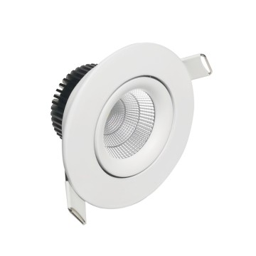 8W CCT anti-reflets dimmable dirije downlight