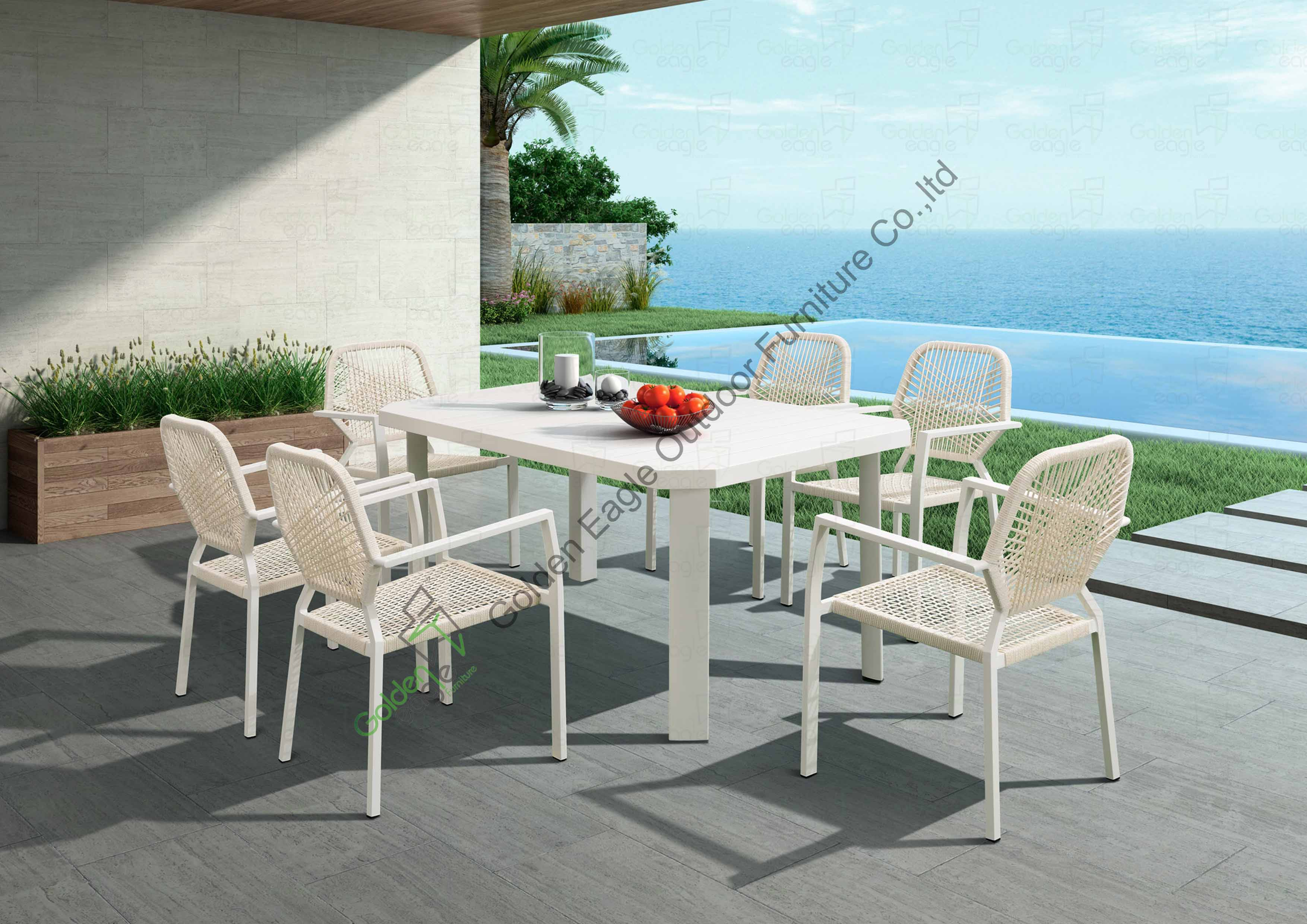 China Outdoor Aluminium extension table dining chairs Manufacturers