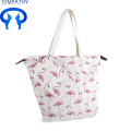 Cotton Canvas Printed Tote Bag with Pouch