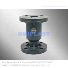 PVC Ball Check Valve Flange End PN10