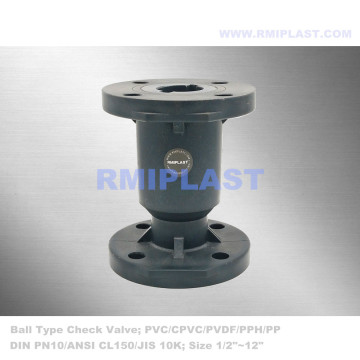 PVDF Ball Check Valve Flange End DIN PN10