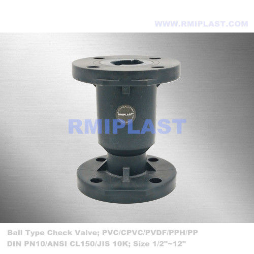 CPVC Ball Check Valve Flange ANSI CL150