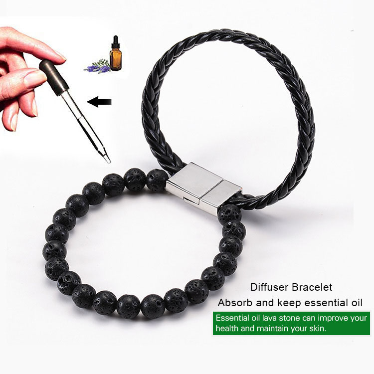 Leather Essential Oil Bracelet