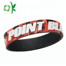 Personalized Custom 3d Logo Mens Silicone Bracelet