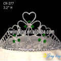 Holiday Heart Crystal Pageant Crowns