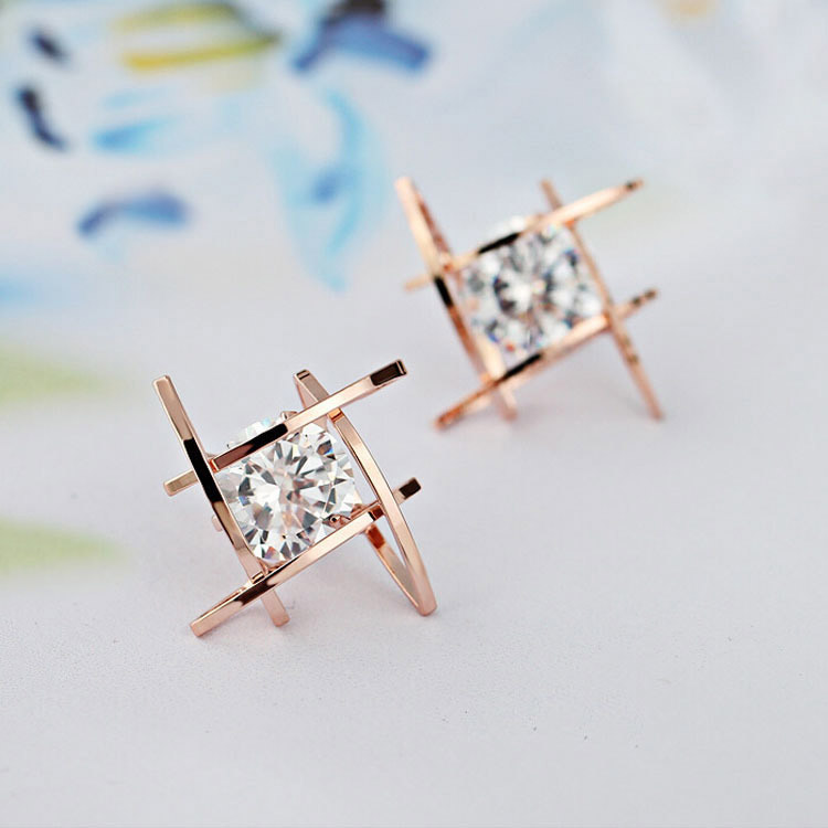 Cz Stone Earrings