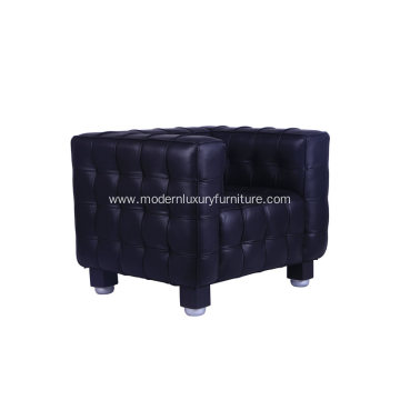 Josef Hoffmann Kubus Leather Single Sofa Replica