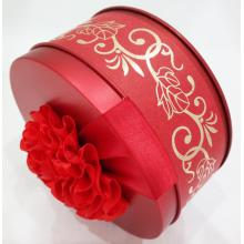 Cheapest Factory for Biscuit Tin Box for Wedding Red Sweet Wedding Tin Can export to Indonesia Exporter