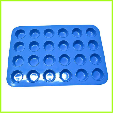 Good Quality for China 24 Cups Silicone Muffin Top Pan,Large Muffin Pan,Small Muffin Pan Manufacturer Lightweight Silicone Mini Muffin Pan 24 supply to Denmark Exporter