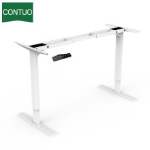Best Quality for Adjustable Table Legs Dual Motorized Metal Frame Computer Sit Stand Desk supply to Yemen Factory