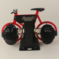 Red small bicycle flip desk clock