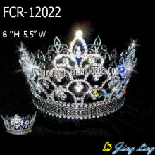 Hot Sale for for Crowns For Pageants Full Round Crown FCR-12022 supply to Christmas Island Factory