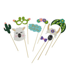 Best Quality for Birthday Party Themes llama photo booth props for birthday or wedding export to Poland Manufacturers