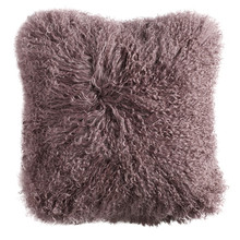 Long Curly Lamb Fur Bed Pillow
