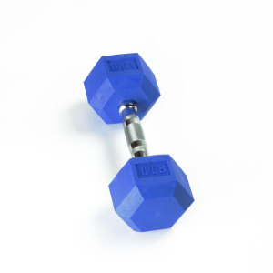12LB Color Rubber Dumbbell