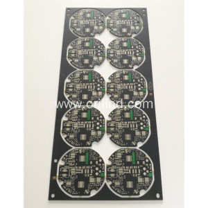 Black matt over green soldermask circuit board