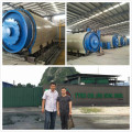 Professional rubber crumb production line waste tire pyrolysis machine made in China