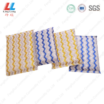 Stripe charming golden kitchen sponge