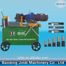 Portable rebar threading machine