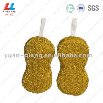Golden waves shape cleaning sponge