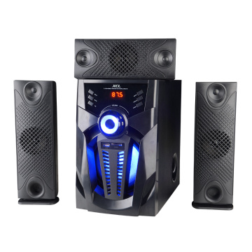 Computer speakers system with woofer remote