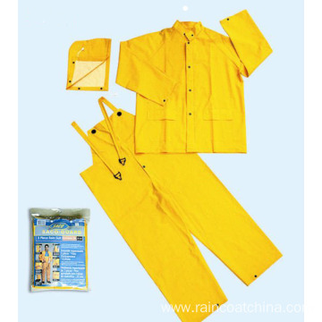 Detachable Hood PVC/polyester Rainsuit