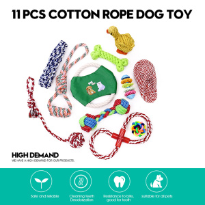 Supply for for Puppy Toys 11 PCS Dog Toys Set Training Chew Toys supply to Bangladesh Exporter