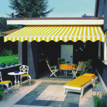 European style retractable canopy terrace sunshade awning