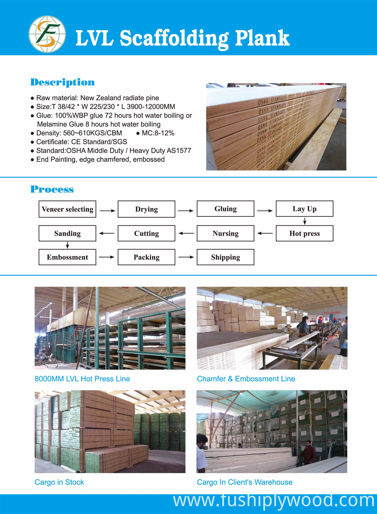 LVL Scaffold Wood Boards