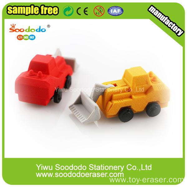 fire engine car office supply eraser sets